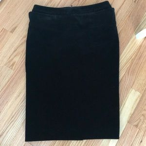 Yves Saint Laurent Velvet pencil skirt